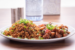 Chicken Fried Rice with Chilli Chicken